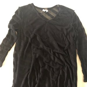 Free People Black Stripped Sweater- size M